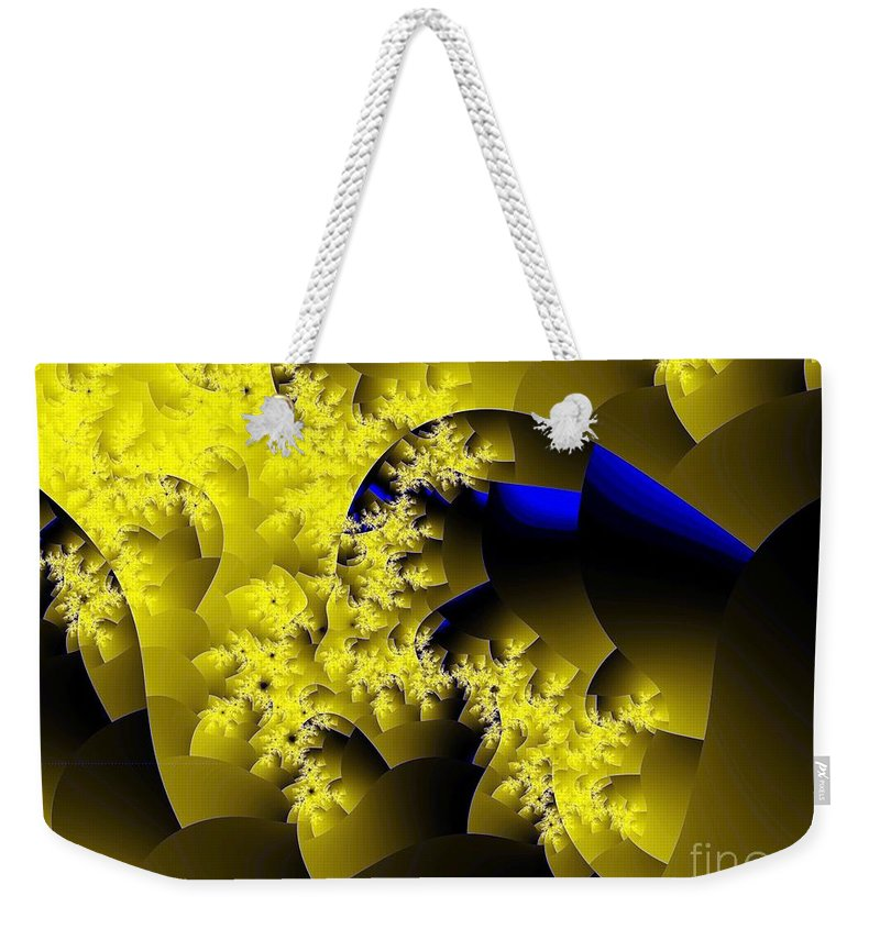 Origami Weekender Tote Bag featuring the digital art Origami Gone Wild by Ron Bissett