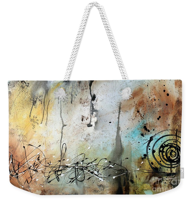 Original Abstract Acrylic Painting On Canvas Desert Surroundings By Megan Duncanson Weekender Tote Bag