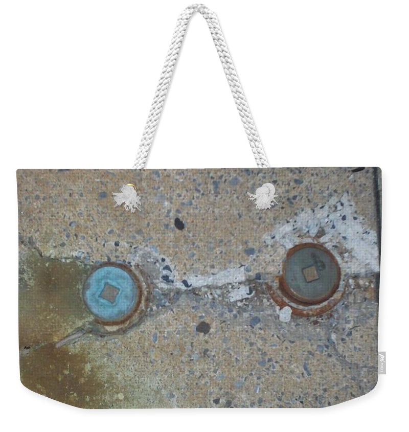 Photograph Weekender Tote Bag featuring the photograph Original Damaged Pipes by Thomas Valentine