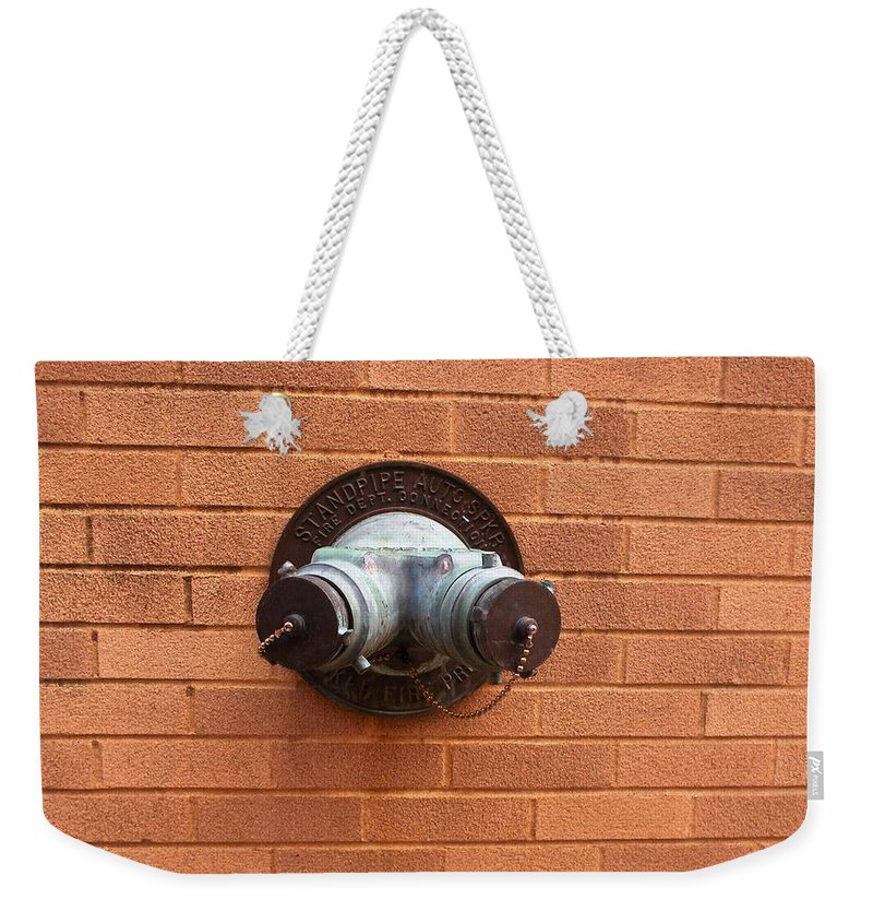 Photograph Weekender Tote Bag featuring the photograph Original Female Pipe by Thomas Valentine