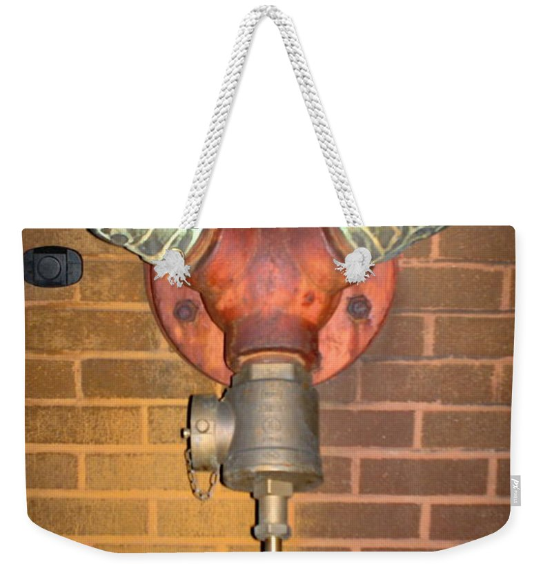 Photograph Weekender Tote Bag featuring the photograph Original Pipe by Thomas Valentine