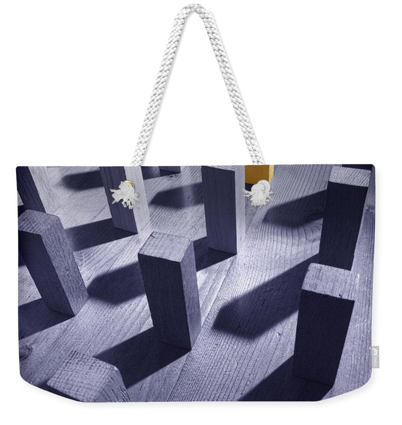 Original Weekender Tote Bag featuring the photograph Original Unique Different Extrovert Individual Exceptional Singular Special by Mal Bray