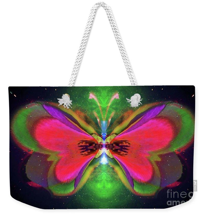 Oriole Weekender Tote Bag featuring the digital art Oriole Rainyjewel by Raymel Garcia