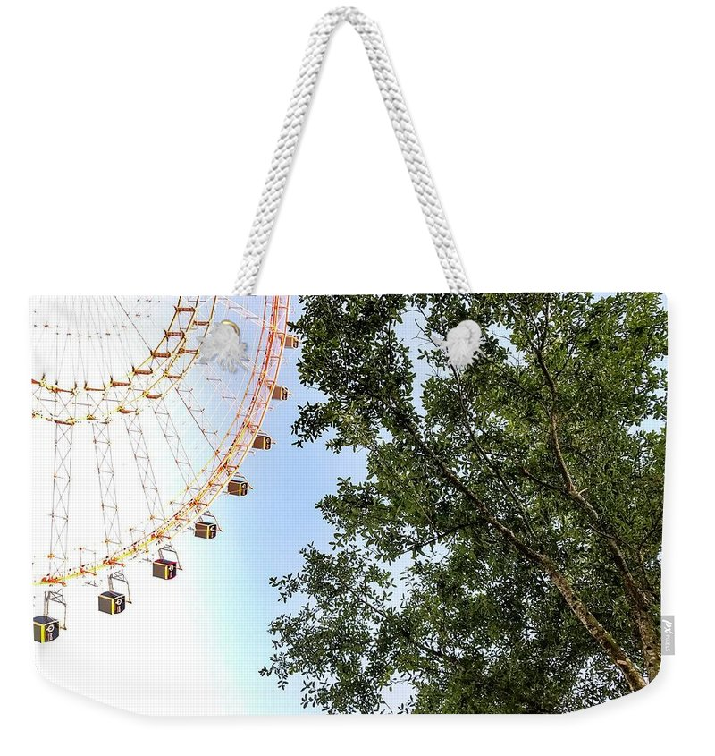 Adventure Weekender Tote Bag featuring the photograph Orlando Eye by Christopher Bednarly
