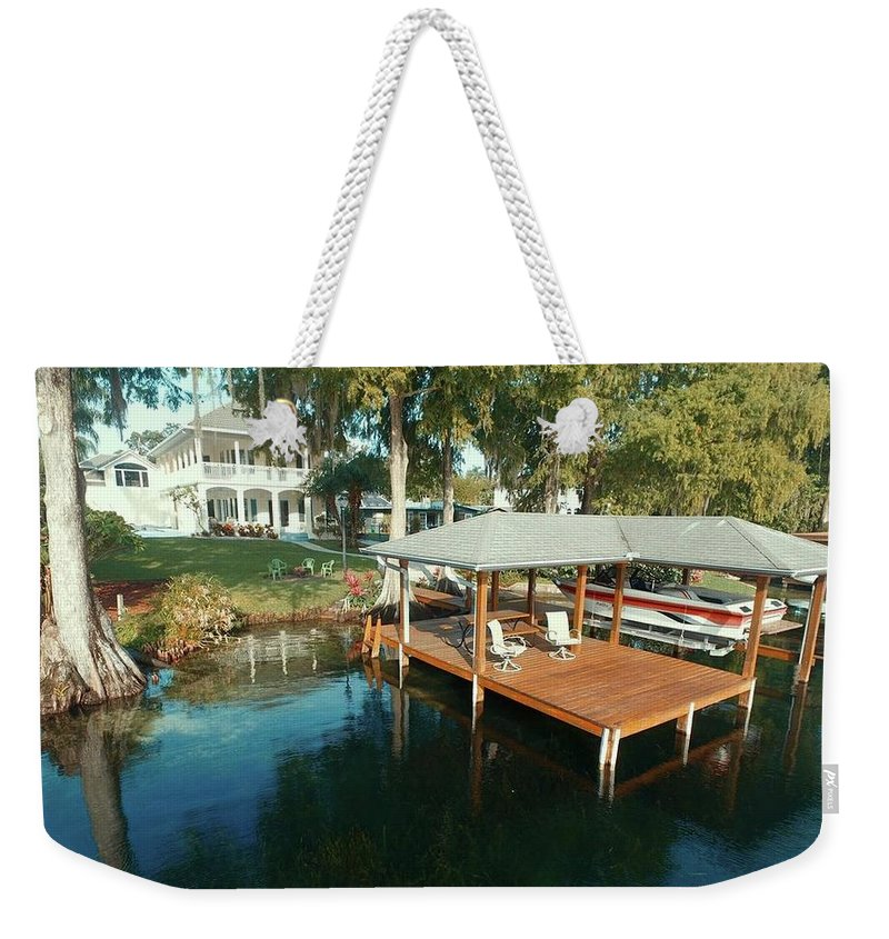 Aerial Photography Weekender Tote Bag featuring the photograph Orlando Photography Deck by Charles Markman