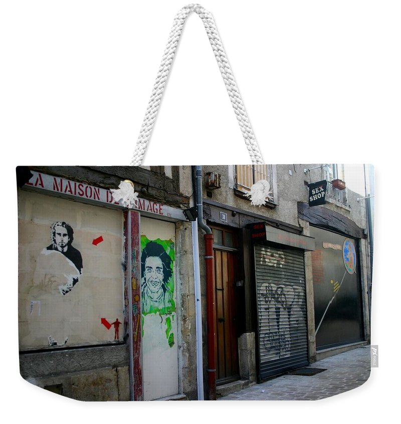 Alley Weekender Tote Bag featuring the photograph Orleans France Alley by Minaz Jantz