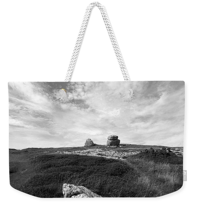 Great Orme Weekender Tote Bag featuring the photograph Orme Rocks by Bob Kemp