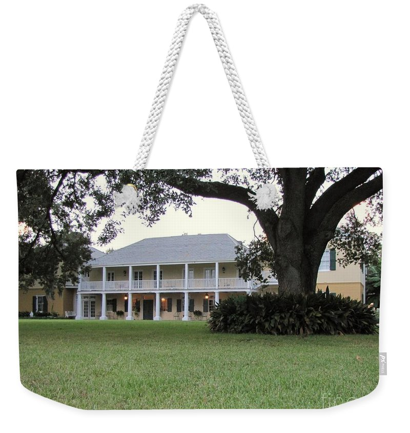 Plantation Homes Weekender Tote Bag featuring the photograph Ormond Plantation by Michelle Powell