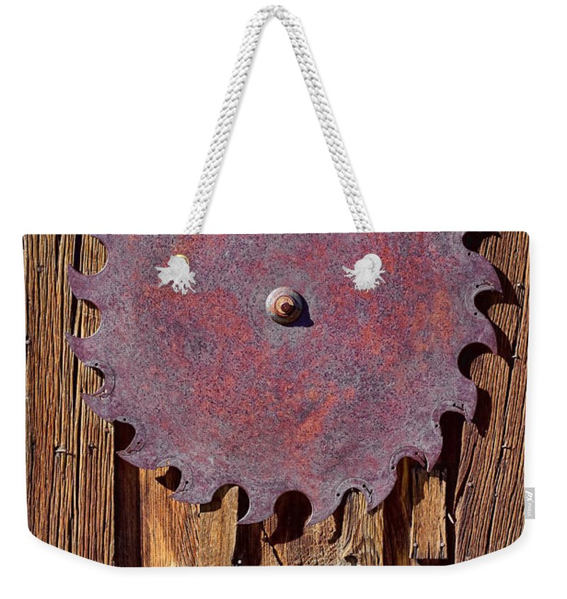 Saw Blade Weekender Tote Bag featuring the photograph Ornamental by Kelley King