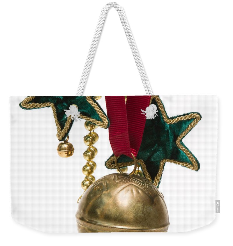 Christmas Weekender Tote Bag featuring the photograph Ornaments by Louise Heusinkveld