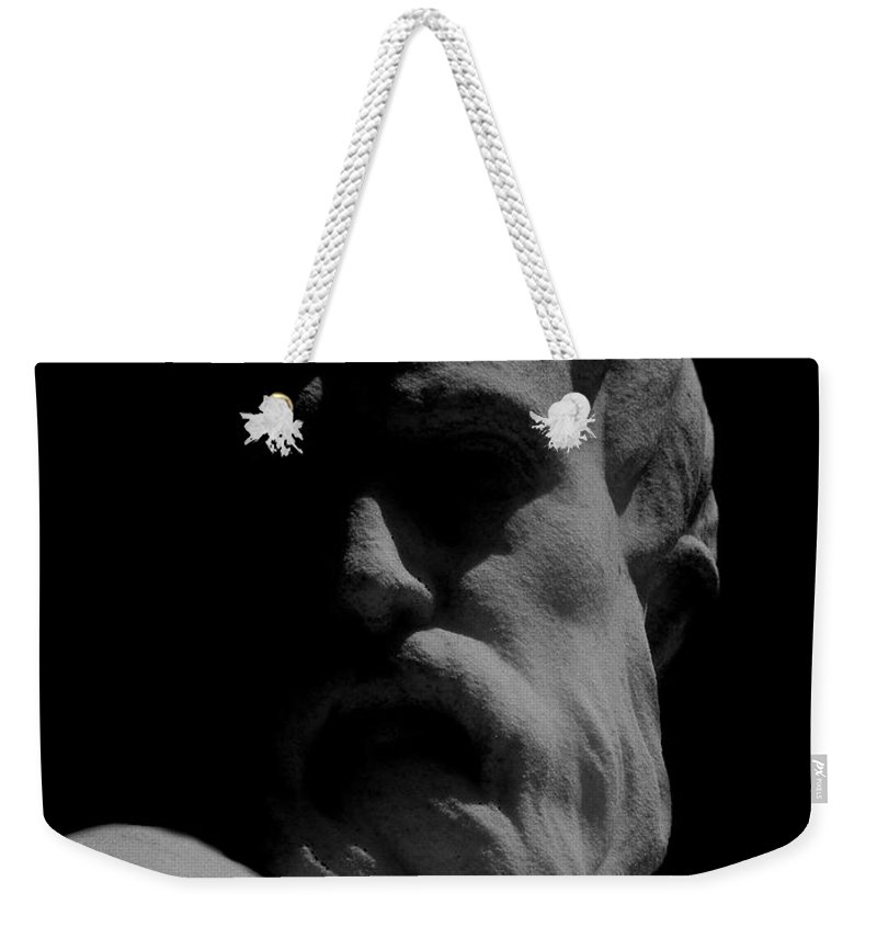 Black And White Weekender Tote Bag featuring the photograph Orpheus Looks Back by RC DeWinter