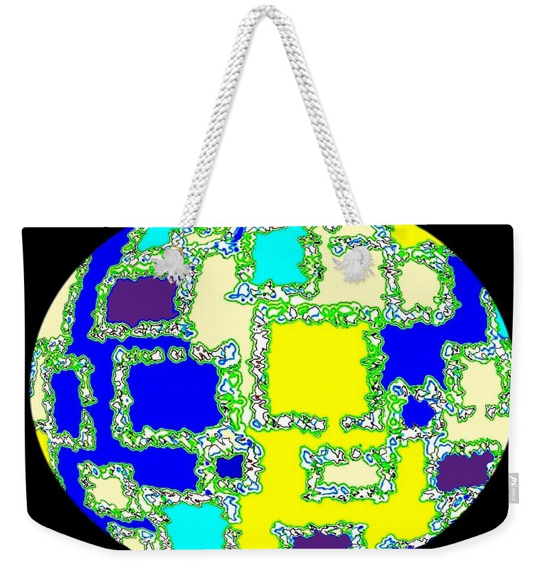 Abstract Weekender Tote Bag featuring the digital art Ostrich Egg by Will Borden
