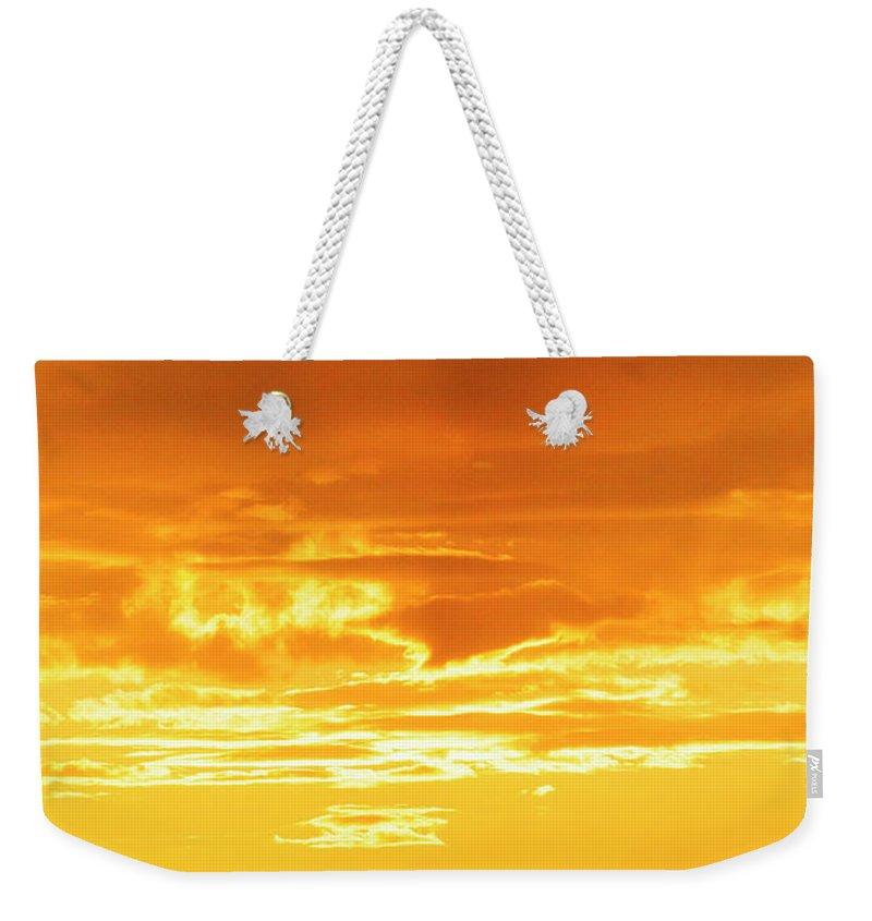 Oswego Weekender Tote Bag featuring the photograph Oswego Sunset 5 by David Stasiak