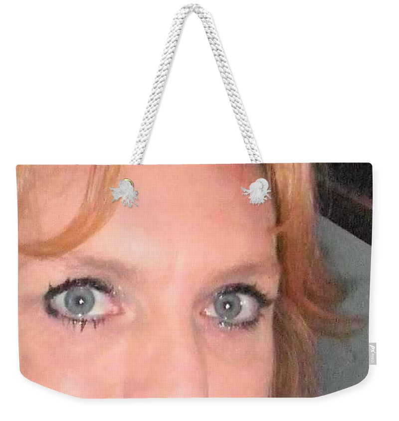 Weekender Tote Bag featuring the photograph Other Me by Miss McLean