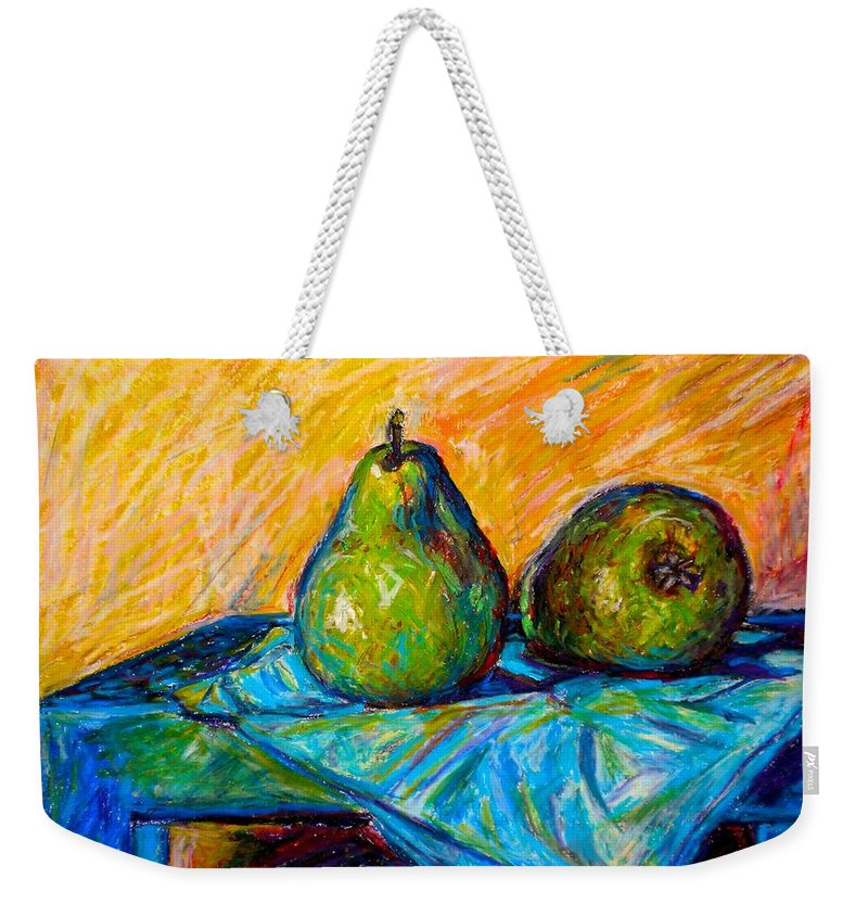 Still Life Weekender Tote Bag featuring the painting Other Pears by Kendall Kessler