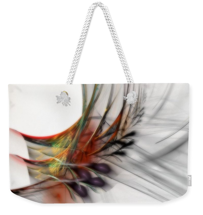 Abstract Weekender Tote Bag featuring the digital art Our Many Paths by NirvanaBlues