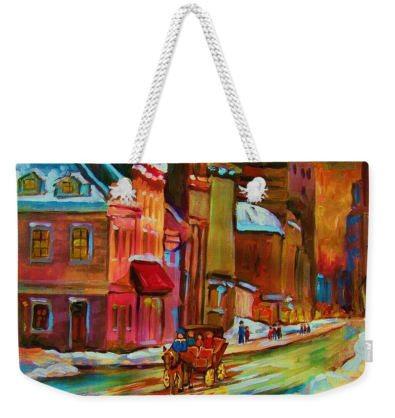 Montreal Weekender Tote Bag featuring the painting Our Perfect Day by Carole Spandau