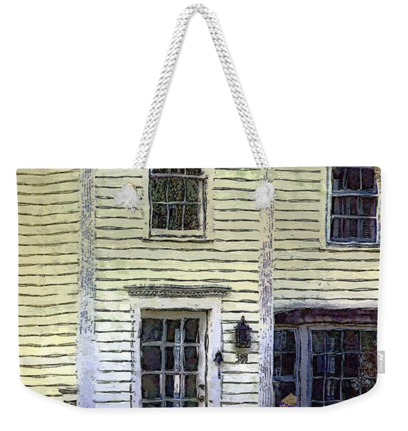 House Weekender Tote Bag featuring the painting Our Town's Witch House by RC deWinter