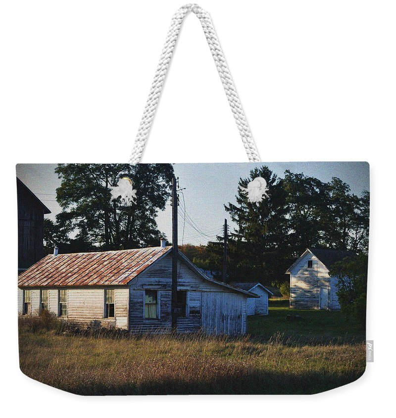 Barns Weekender Tote Bag featuring the photograph Out Building by Tim Nyberg