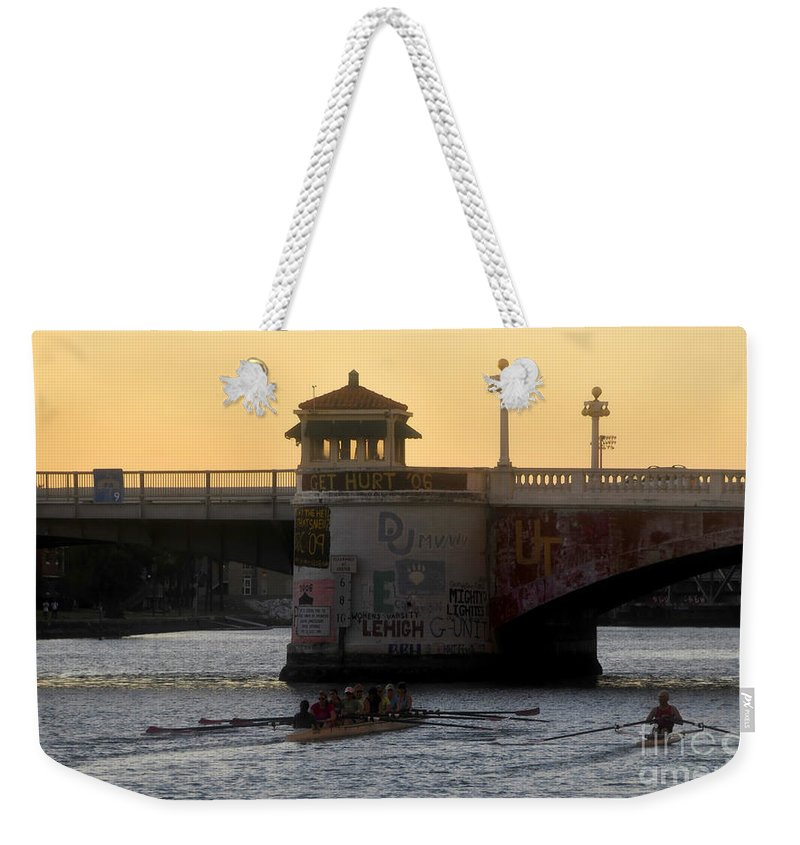 Sculling Weekender Tote Bag featuring the photograph Out For An Evening Scull by David Lee Thompson
