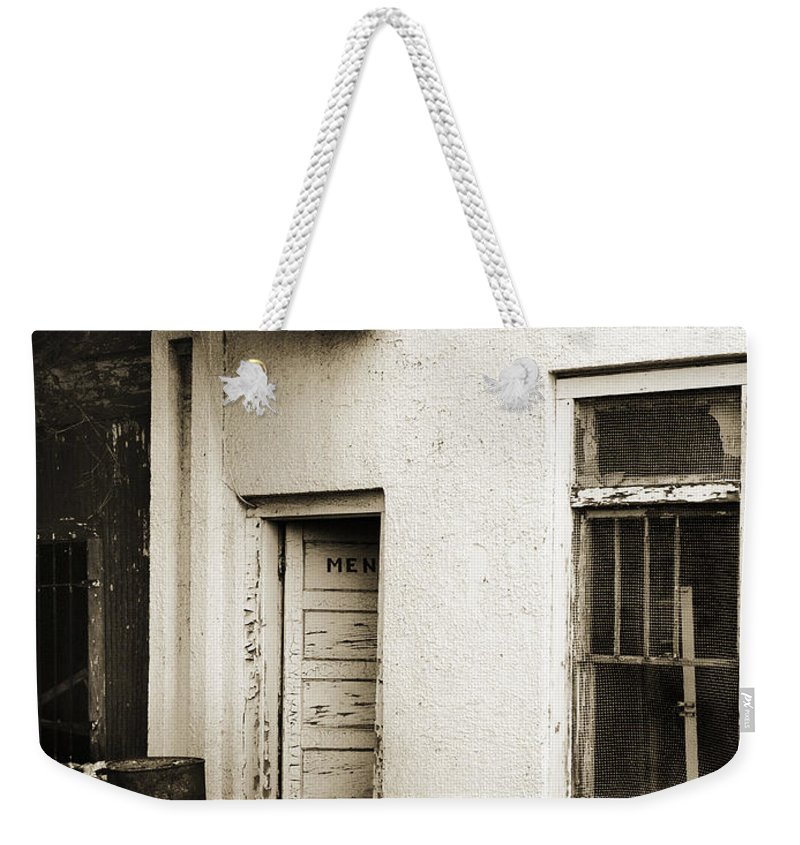 Men's Room Weekender Tote Bag featuring the photograph Out Of Order by Marilyn Hunt