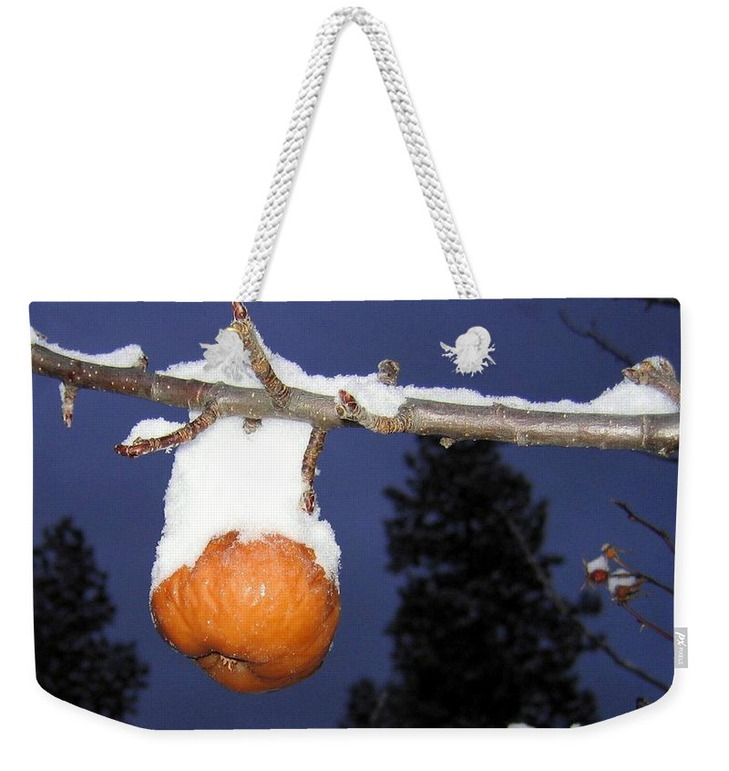 Apple Weekender Tote Bag featuring the photograph Out Of Season by Will Borden