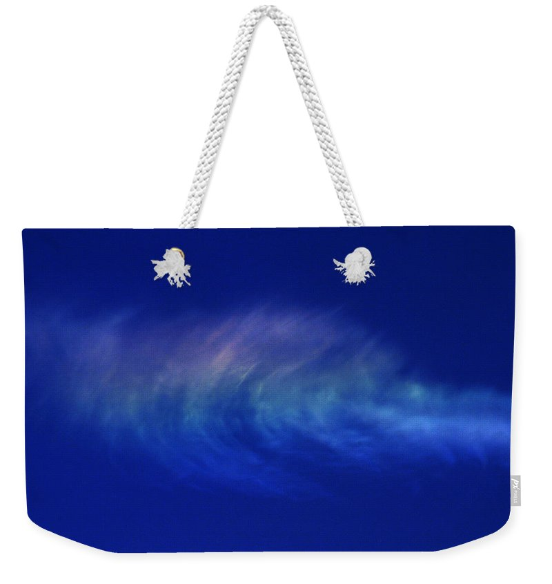 Cloud Weekender Tote Bag featuring the photograph Out Of The Blue by Casper Cammeraat