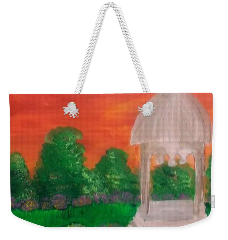 Landscape Weekender Tote Bag featuring the painting Out Of Touch by Tasha Ramirez