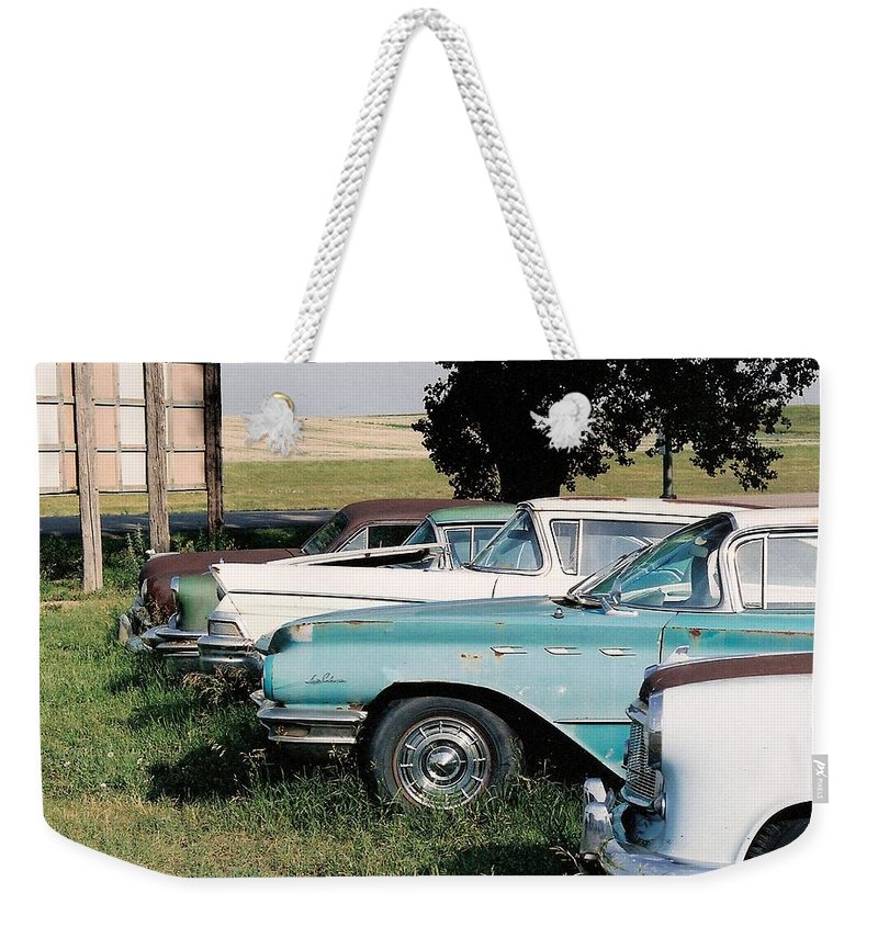 Rural Weekender Tote Bag featuring the photograph Out To Pasture by Lauri Novak