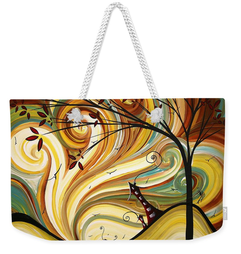 Art Weekender Tote Bag featuring the painting Out West Original Madart Painting by Megan Duncanson