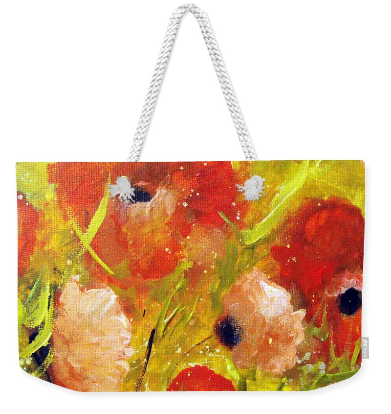 Decorative Weekender Tote Bag featuring the painting Out With The Sun by Ruth Palmer
