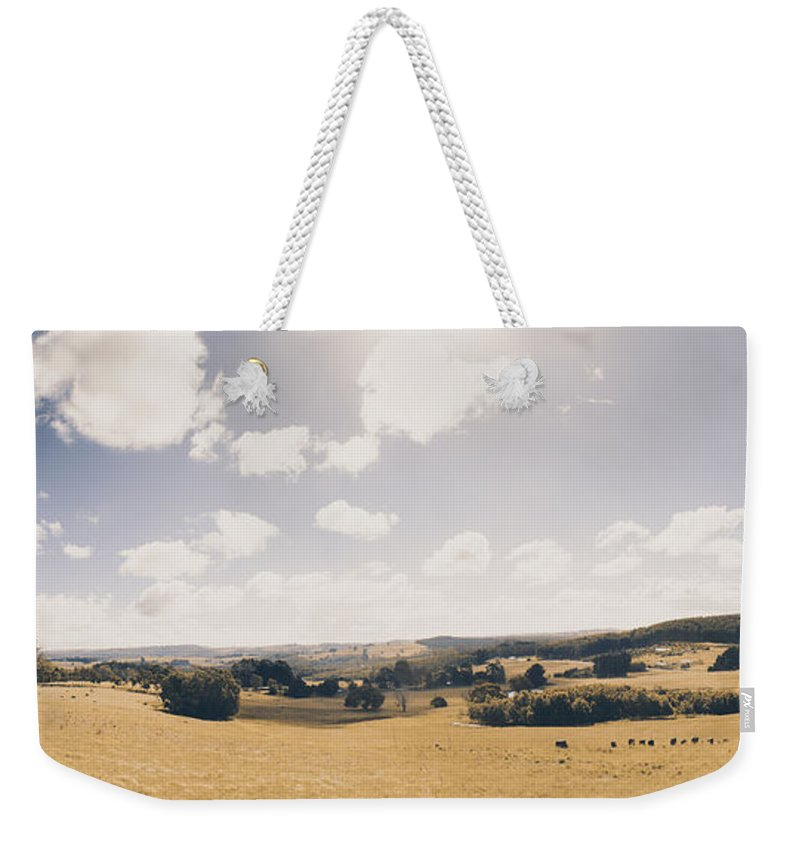 Landscape Weekender Tote Bag featuring the photograph Outback Ridgley In Scenic Tasmania, Australia by Jorgo Photography - Wall Art Gallery