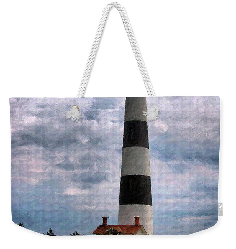 Lighthouse Weekender Tote Bag featuring the photograph Outer Banks Beach Lighhouse by Randy Steele