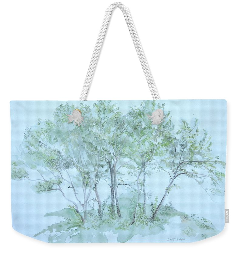 Trees Weekender Tote Bag featuring the painting Outer Banks by Leah Tomaino