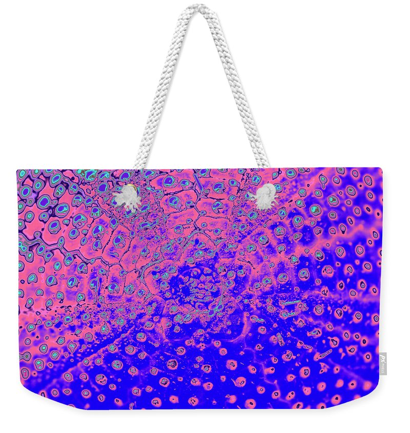 Abstract Weekender Tote Bag featuring the photograph Outer Space by Heiko Koehrer-Wagner