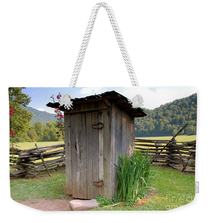 Outhouse Weekender Tote Bag featuring the photograph Outhouse by David Lee Thompson