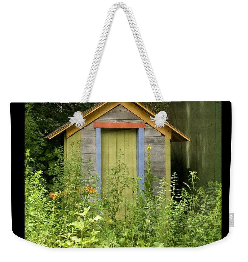 Outhouse Weekender Tote Bag featuring the photograph Outhouse by Tim Nyberg