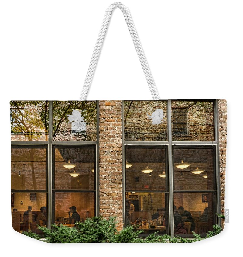 Knoxville Weekender Tote Bag featuring the photograph Outside Inside by Sharon Popek