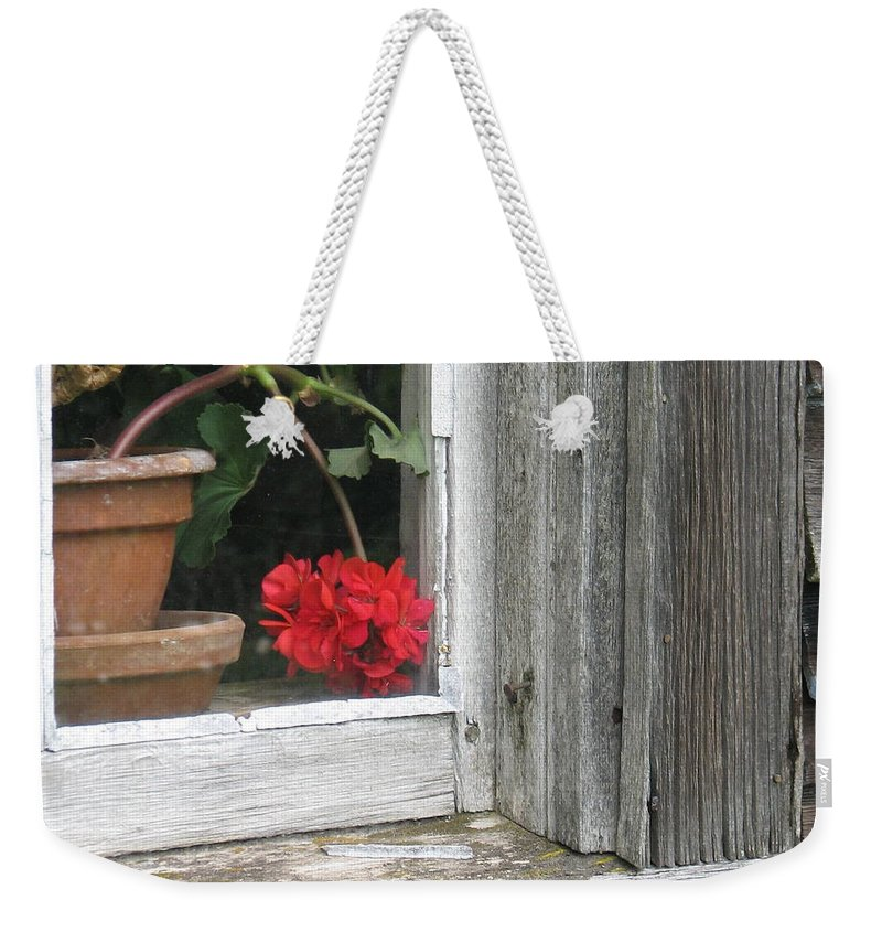 Olson House Weekender Tote Bag featuring the photograph Outside Please by Kelly Mezzapelle