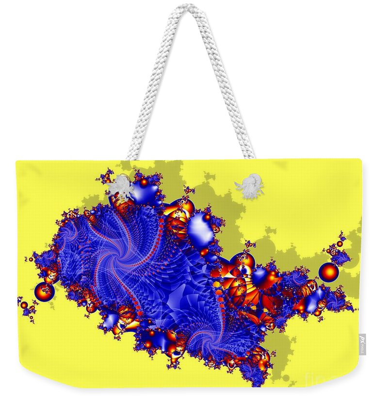 Fractal Weekender Tote Bag featuring the digital art Outside The Fractal by Ron Bissett