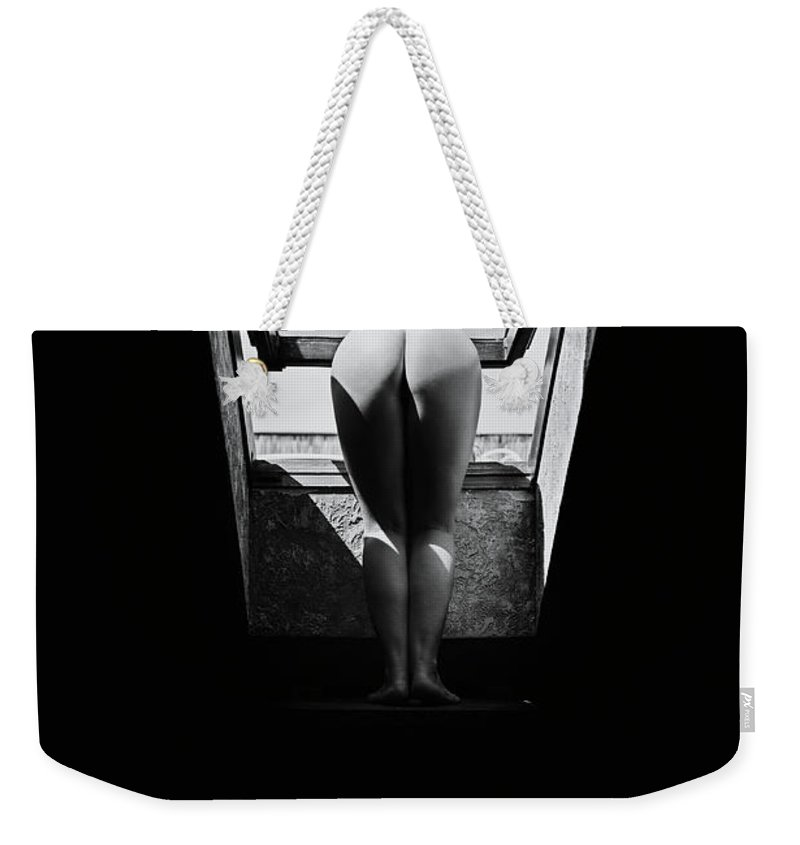 Nude Weekender Tote Bag featuring the photograph Outside The Window by Flower Tiare
