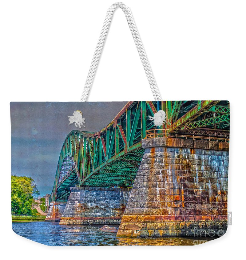 New England Weekender Tote Bag featuring the photograph Over The River by Claudia M Photography