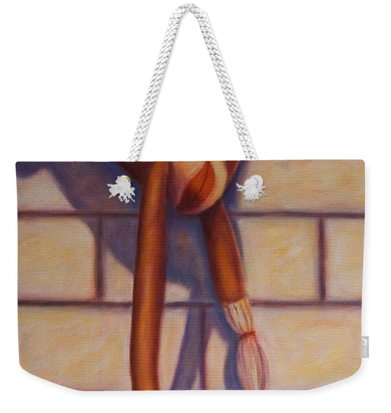 Children Weekender Tote Bag featuring the painting Over The Top by Shannon Grissom