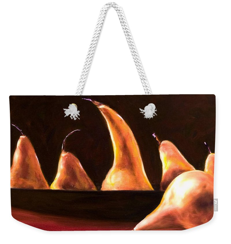 Still Life Weekender Tote Bag featuring the painting Overboard by Shannon Grissom