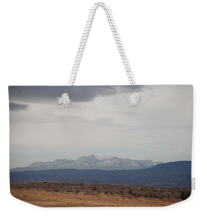Mountains Weekender Tote Bag featuring the photograph Overcast On The Sandias by Rob Hans