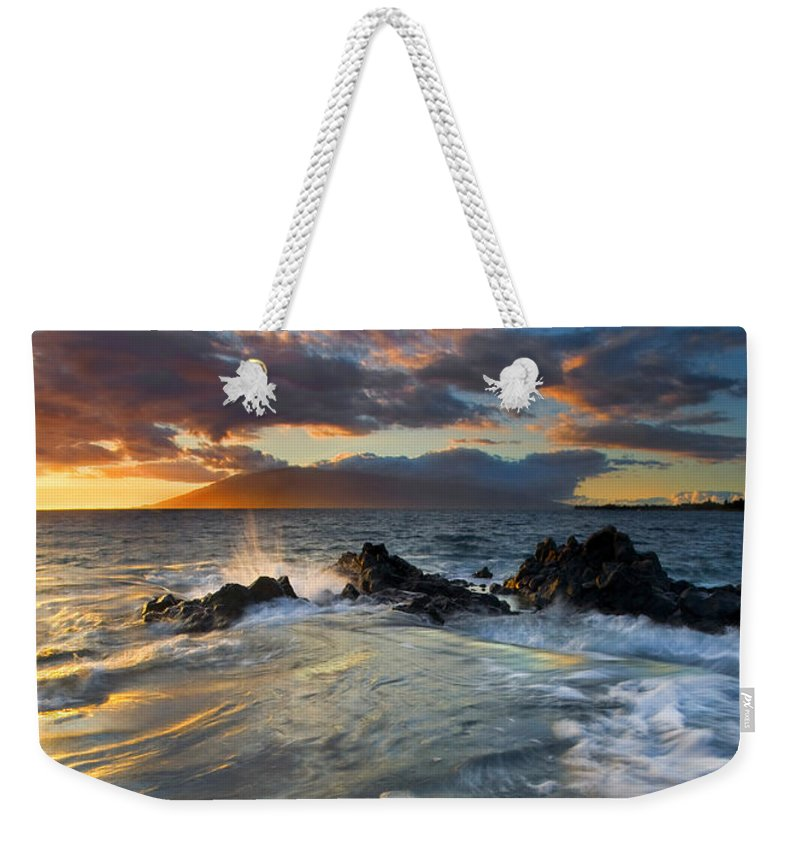 Cauldron Weekender Tote Bag featuring the photograph Overflow by Mike Dawson