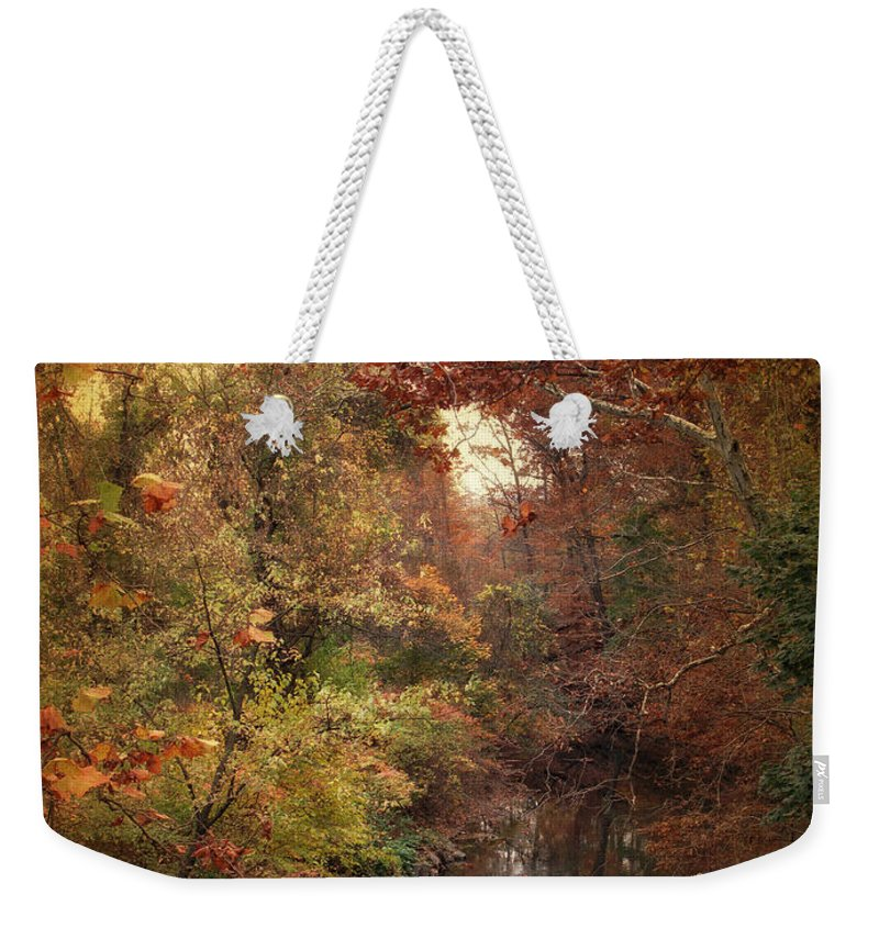 Autumn Weekender Tote Bag featuring the photograph Overlook by Jessica Jenney