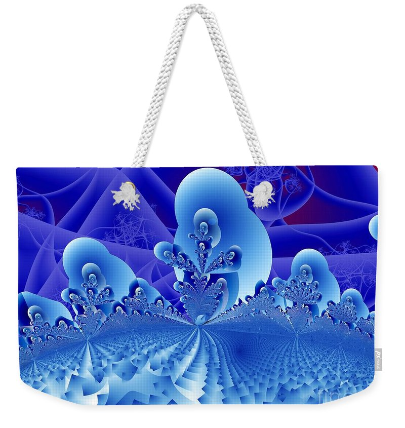 Fractal Image Weekender Tote Bag featuring the digital art Overlook by Ron Bissett