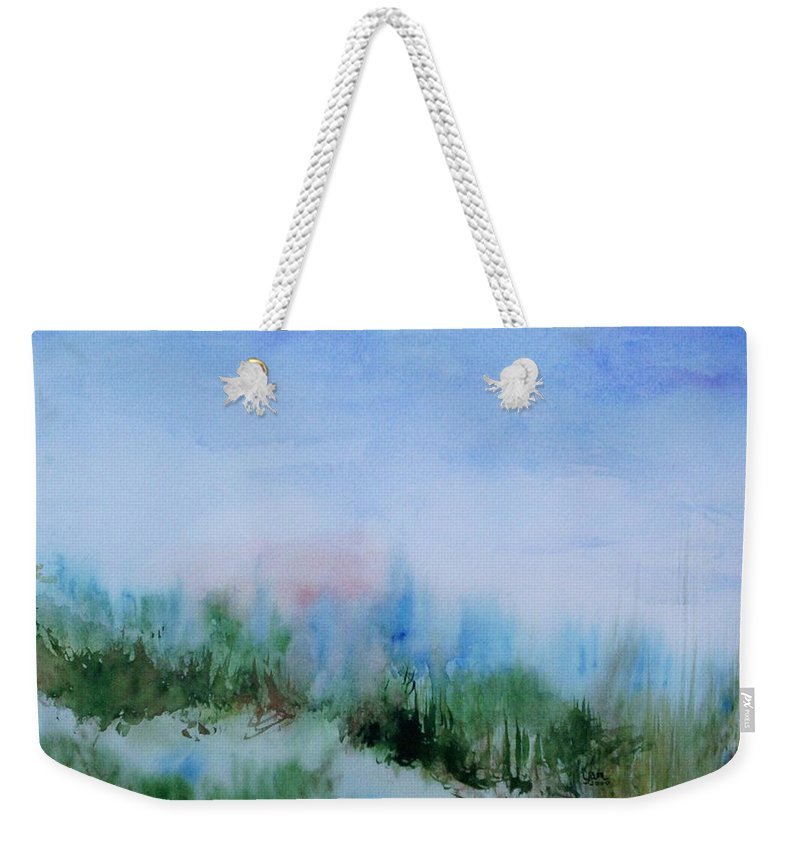 Landscape Weekender Tote Bag featuring the painting Overlook by Suzanne Udell Levinger
