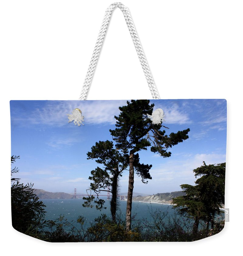 San Francisco Bay Weekender Tote Bag featuring the photograph Overlooking The Bay by Carol Groenen